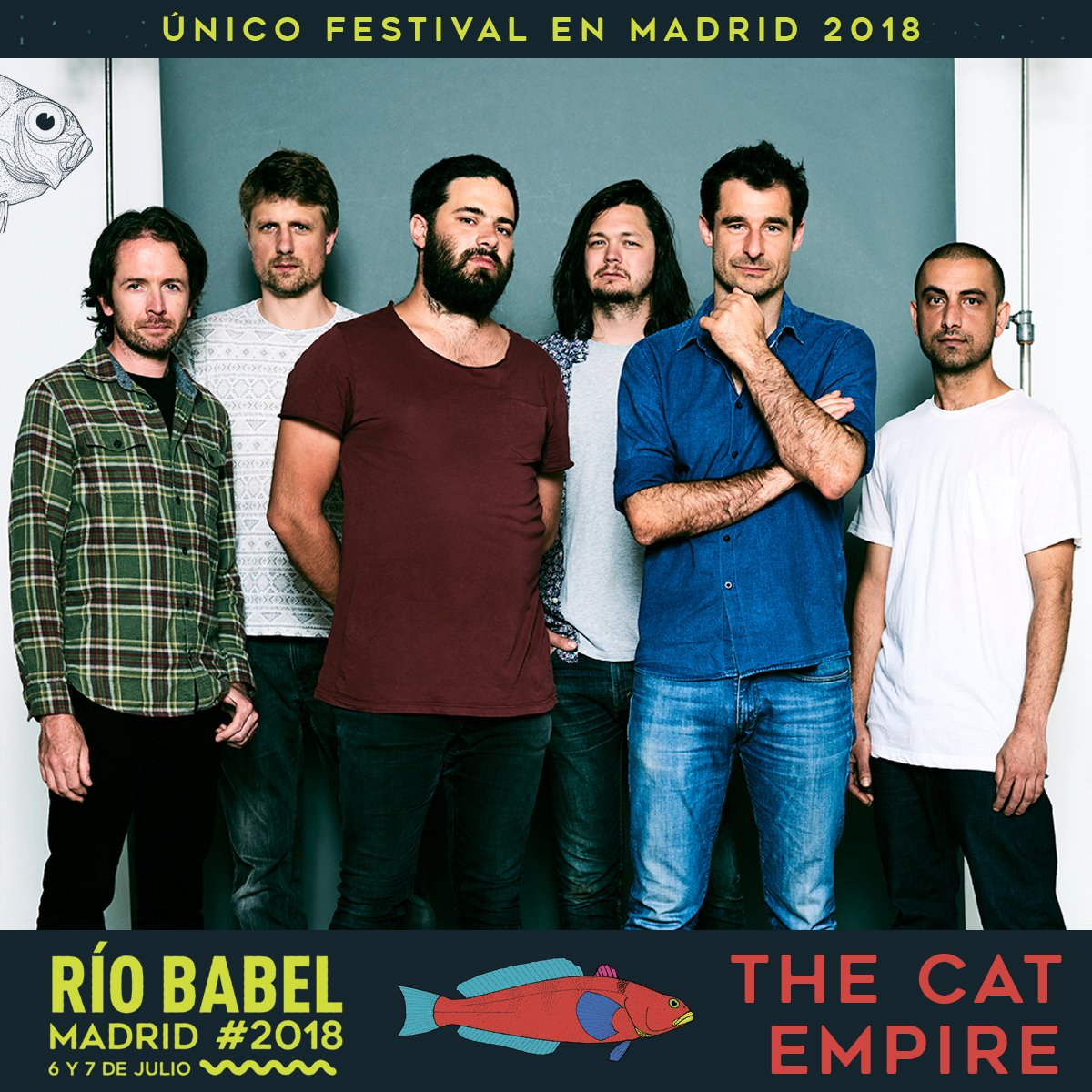 The Cat Empire, We The Lion, Los Caligaris y Juanito Makandé se suman al cartel de la segunda edición del festival Río Babel.