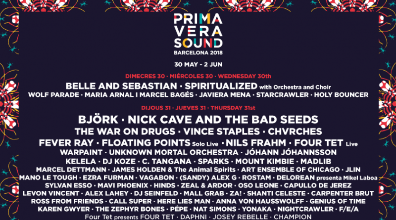 Arctic Monkeys, Björk, Nick Cave and The Bad Seeds, The National, Lorde, Migos, A$AP Rocky y Jane Birkin encabezan el arrollador cartel de la decimoctava edición del festival barcelonés Primavera Sound.
