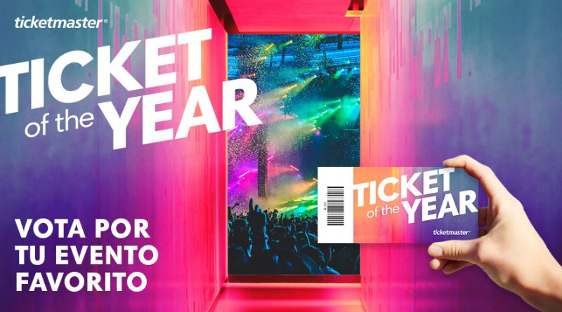 Arranca la cuarta edición de 'Ticket Of The Year', la encuesta global de Ticketmaster que te permite ganar 500€ en entradas.
