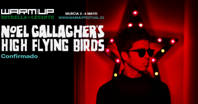 WARM UP Estrella de Levante 2019 sigue desglosando el cartel de su tercera edición y confirma a Noel Gallagher´s High Flying Birds.