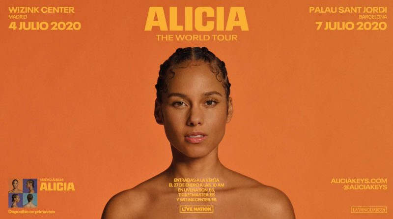 Alicia Keys anuncia ALICIA – THE WORLD TOUR, su esperado regreso a los escenarios. 4 de julio en Madrid y 7 de julio en Barcelona.